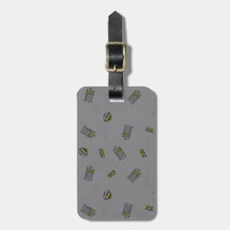 Oscar the Grouch | Grey Pattern Luggage Tag
