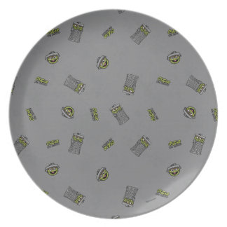 Oscar the Grouch | Grey Pattern Plate
