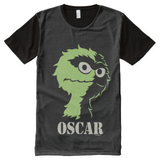 Oscar the Grouch Half All-Over Print T-Shirt