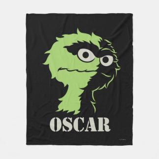 Oscar the Grouch Half Fleece Blanket