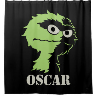 Oscar the Grouch Half Shower Curtain