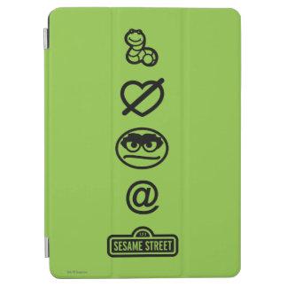 Oscar the Grouch Icons iPad Air Cover