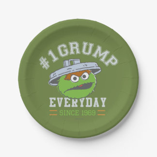 Oscar the Grouch Number 1 7 Inch Paper Plate