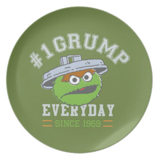 Oscar the Grouch Number 1 Plate