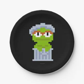 Oscar the Grouch Pixel Art 7 Inch Paper Plate