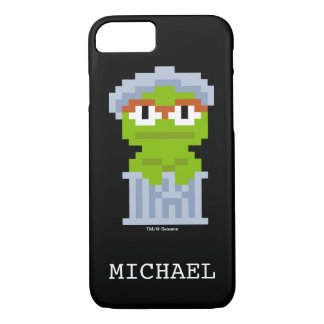 Oscar the Grouch Pixel Art   Add Your Name iPhone 7 Case