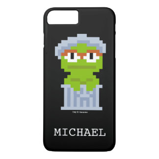 Oscar the Grouch Pixel Art | Add Your Name iPhone 8 Plus/7 Plus Case