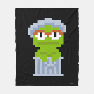 Oscar the Grouch Pixel Art Fleece Blanket