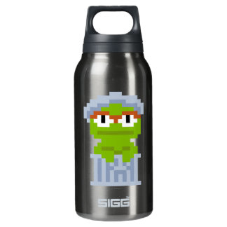 Oscar the Grouch Pixel Art Insulated Water Bottle