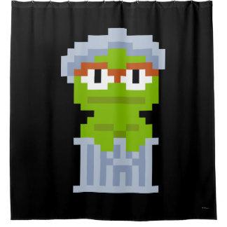 Oscar the Grouch Pixel Art Shower Curtain