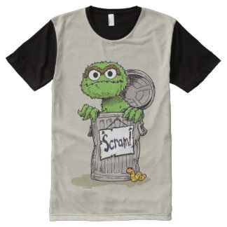 Oscar the Grouch Scram All-Over Print T-Shirt