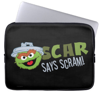 Oscar the Grouch Scram Laptop Sleeve