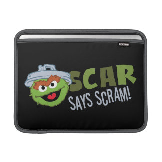 Oscar the Grouch Scram MacBook Sleeve