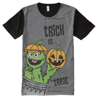 Oscar the Grouch - Trick Or Treat All-Over Print T-Shirt