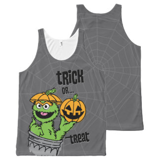 Oscar the Grouch - Trick Or Treat All-Over Print Tank Top