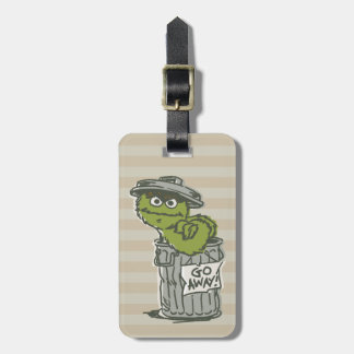 Oscar the Grouch Vintage 2 Luggage Tag