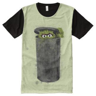 Oscar the Grouch | Watercolor Trend All-Over Print T-Shirt