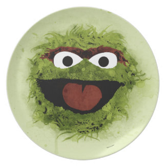 Oscar the Grouch | Watercolor Trend Dinner Plates