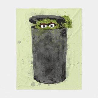 Oscar the Grouch | Watercolor Trend Fleece Blanket