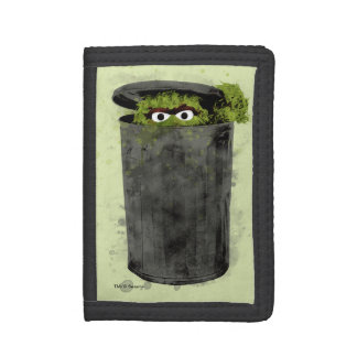 Oscar the Grouch | Watercolor Trend Trifold Wallet
