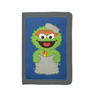 Oscar the Grouch Wool Style Tri-fold Wallet