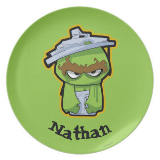 Oscar the Grouch Zombie   Add Your Name Plate