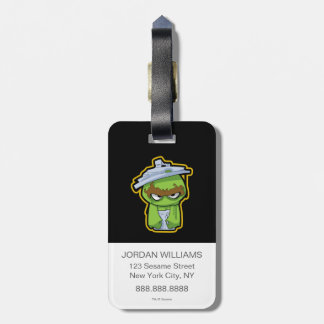 Oscar the Grouch Zombie Luggage Tag