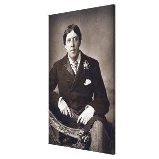 Oscar Wilde, 1889 Canvas Print