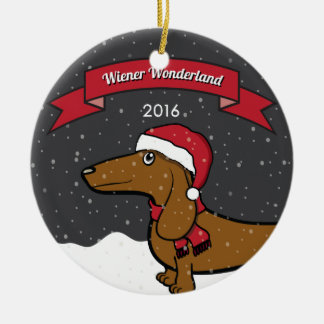Oscar's 2016 Wiener Wonderland Ornament