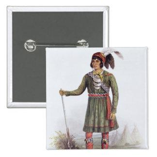 Osceola or 'Rising Sun', a Seminole Leader 15 Cm Square Badge