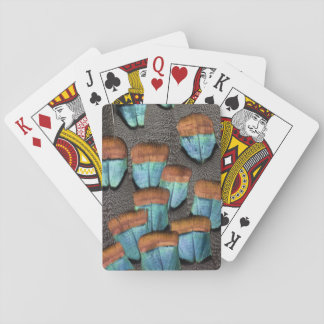 Oscillated Turkey feather pattern Playing Cards