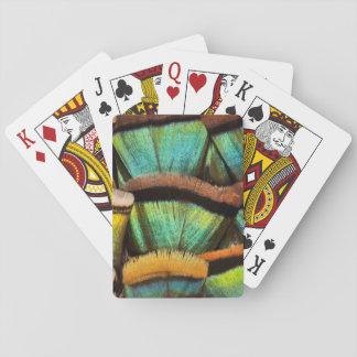 Oscillated Turkey feathers Poker Deck
