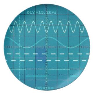 oscilloscope plate