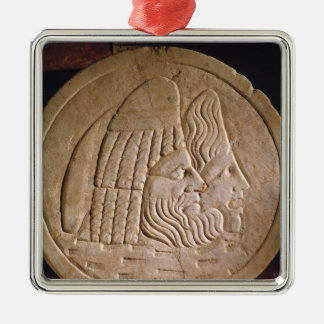 Oscillum depicting theatrical masks christmas ornament