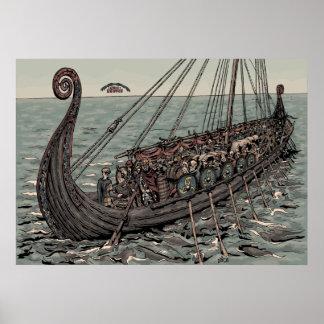 Oseberg ship poster