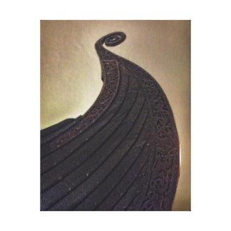 Osebergskipet Stretched Canvas Print