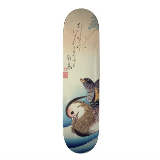 Oshidori Mandarin Ducks by Ando Hiroshige c. 1830 Custom Skateboard