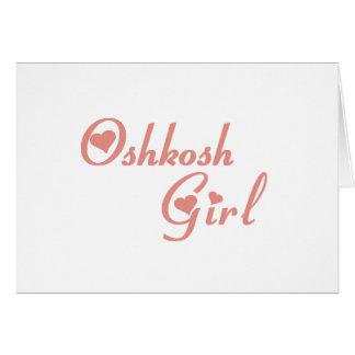 Oshkosh Girl tee shirts Greeting Cards