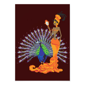 "Oshun Invitations 5"" X 7"" Invitation Card"