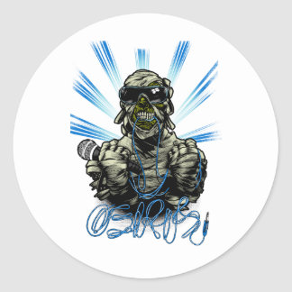 Osiris Mummy Round Sticker