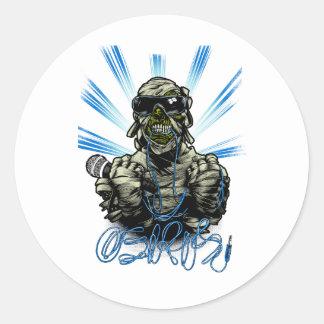 Osiris Mummy Round Sticker