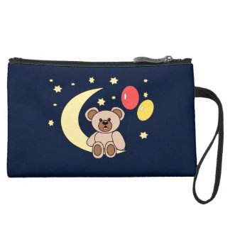 osito and moon suede wristlet