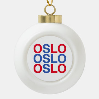 OSLO CERAMIC BALL CHRISTMAS ORNAMENT