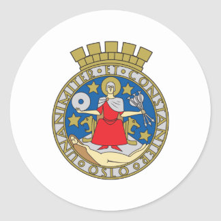 Oslo Coat Of Arms Round Sticker