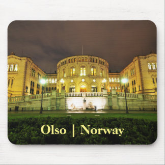 Oslo, Norway at night Mouse Mat