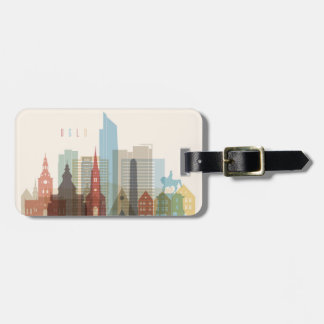 Oslo, Norway | City Skyline Luggage Tag