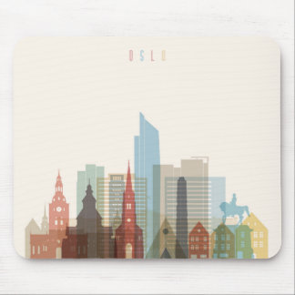 Oslo, Norway | City Skyline Mouse Mat