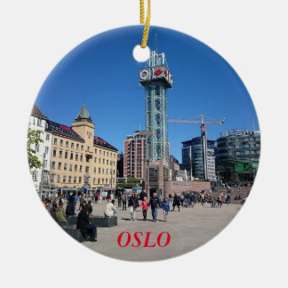Oslo Norway Panorama Circle Ornament