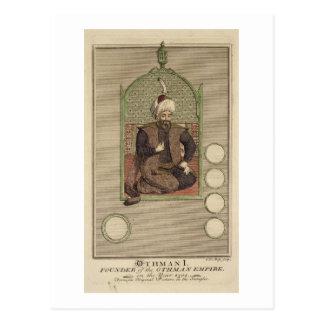 Osman I (1259-1326) founder of the Ottoman Empire Postcard