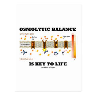 Osmolytic Balance Is Key To Life (Na-K Pump) Post Card